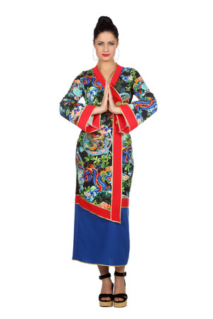Chinesin-Kleid Dragon – Bild 1
