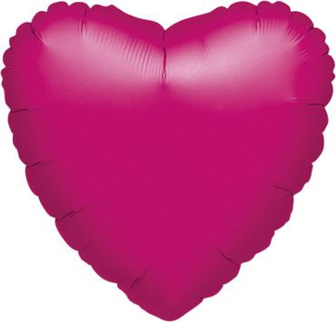 Folienballon Herz metallic fuchsia