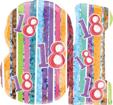 "Folienballon ""Strahlender Geburtstag"" 18 – Bild 3"