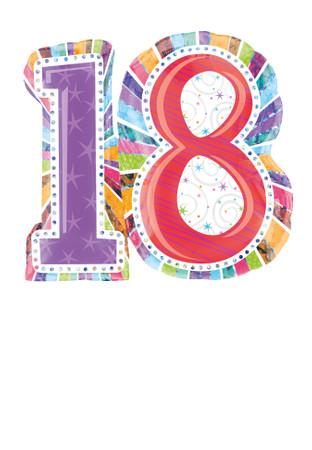 "Folienballon ""Strahlender Geburtstag"" 18 – Bild 1"