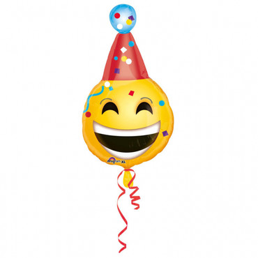 Folienballon Emoji Smiley Geburtstag