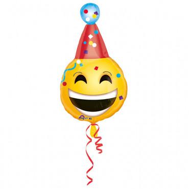 Folienballon Emoji Smiley Geburtstag
