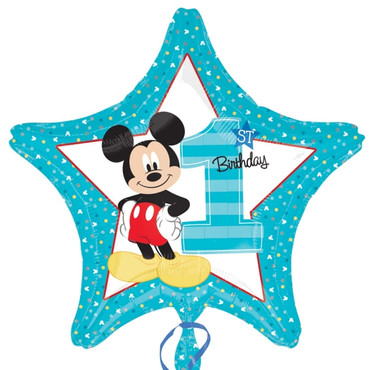 "Folienballon Stern Mickey ""First Birthday"""