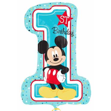 Folienballon Mickey Mouse 1. Geburtstag