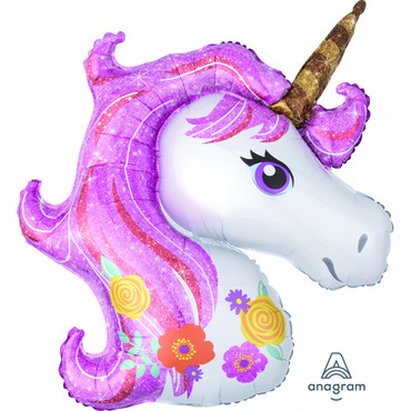 XL Folienballon Magical Unicorn / Magisches Einhorn