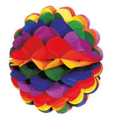 Wabenball Regenbogen 28cm