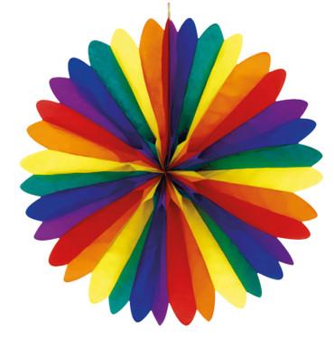 Fächer Regenbogen 50cm