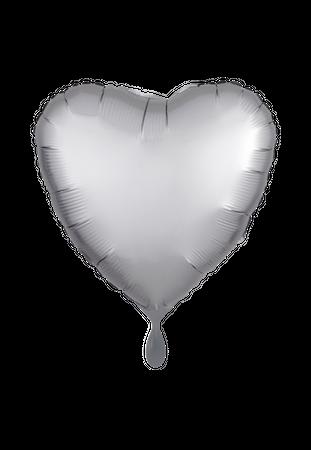 Folienballon Herz Satin silber