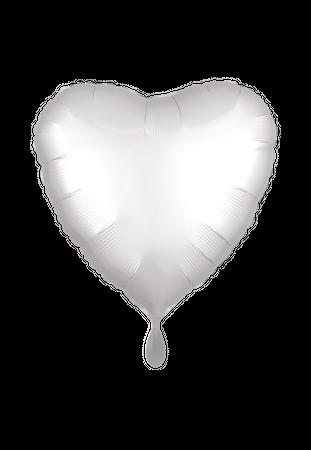 Folienballon Herz Satin weiß