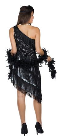 Charleston-Kleid schwarz – Bild 2