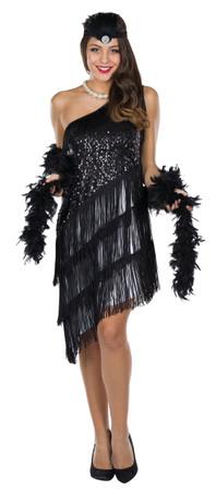 Charleston-Kleid schwarz – Bild 1