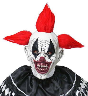Maske Killer Clown mit Haar