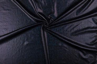 Folien-Jersey 150cm schwarz-holo