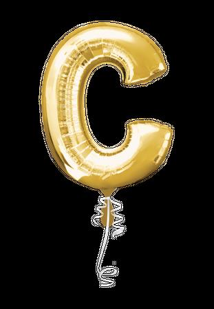 Folienballon Buchstabe C gold - 88cm