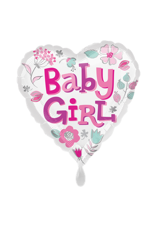 Folienballon Baby Girl