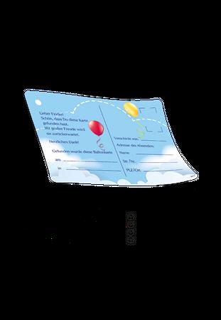 """50 Ballonflugkarten """"Ballonpost"""" – Bild 3"""