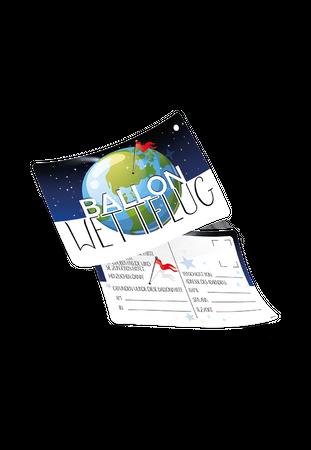 "50 Ballonflugkarten ""Ballonwettflug"" – Bild 1"