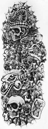 Tattoo 'Totenkopf'