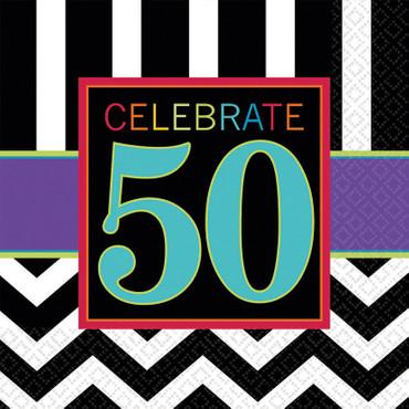 16 Servietten 50. Geburtstag