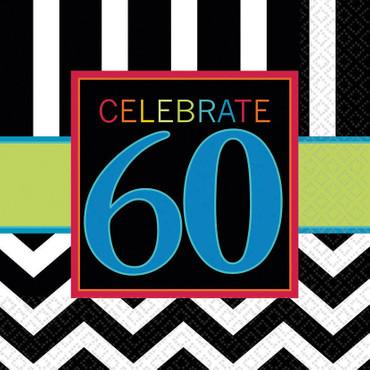 16 Servietten 60. Geburtstag