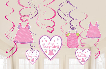 Deckenhänger Swirls It's a Baby Girl