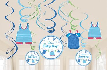 Deckenhänger Swirls It's a boy
