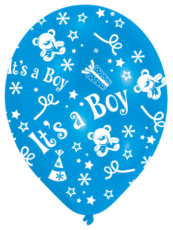 6 Rundballons blau 'It's a boy' – Bild 2