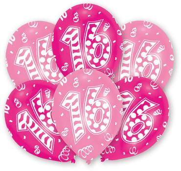 6 Rundballons pink-rosa 16 – Bild 1