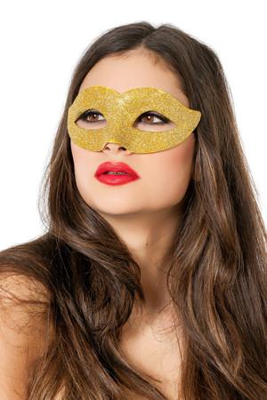 Maske Glitzer gold