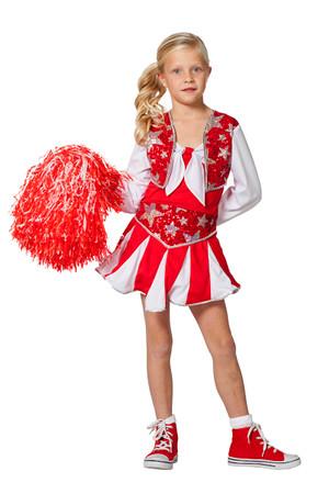 Cheerleader Luxus rot-weiss