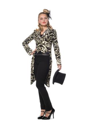 Damenfrack schwarz-gold