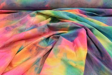 Lycra Batik bunt mit Glitter – Bild 4