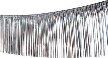 Fransengirlande 10m x 25cm silber