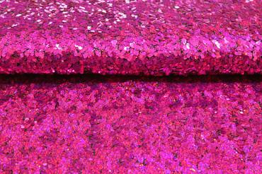 Paillettenstoff magenta/pink – Bild 1