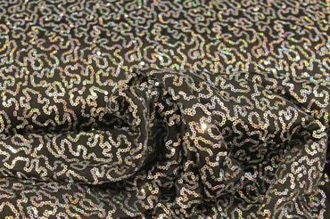 Jersey mit aufgenähten Donut-Pailletten schwarz-silber – Bild 3