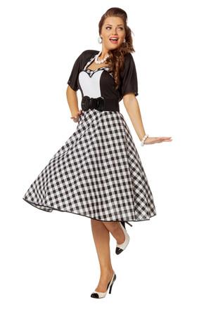Rock'n Roll Kleid schwarz-weiß – Bild 1