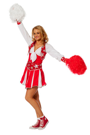 Cheerleader Luxus rot – Bild 2