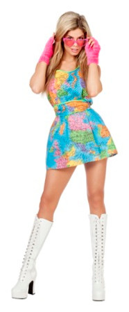Kleid Weltkarte
