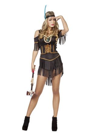 Indianerin Kleid kurz – Bild 1