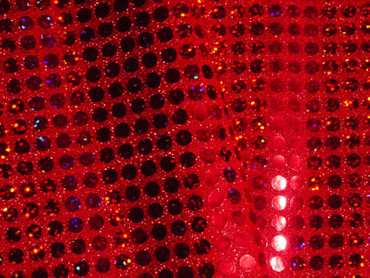 Paillettenstoff holo rot