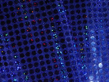 Paillettenstoff holo blau