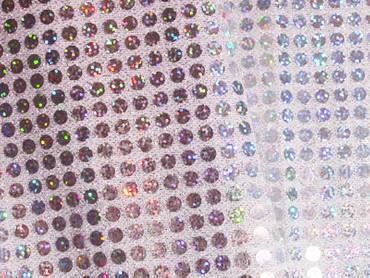 Paillettenstoff holo silber
