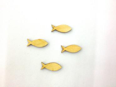 13 Fische geschlossen Holz 30 mm