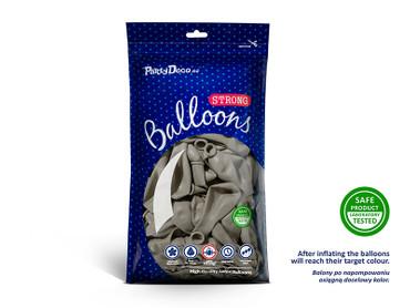 50 Pastell-Ballons warmes grau – Bild 2
