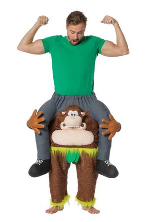 Huckepack-Kostüm Mann/Frau auf Affe – Bild 1