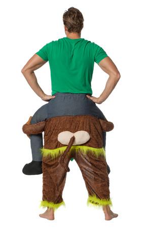 Huckepack-Kostüm Mann/Frau auf Affe – Bild 2