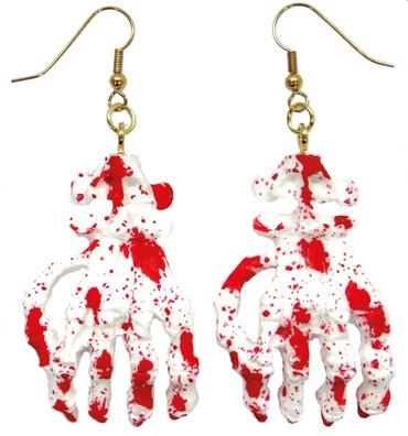Ohrringe Blutige Hand