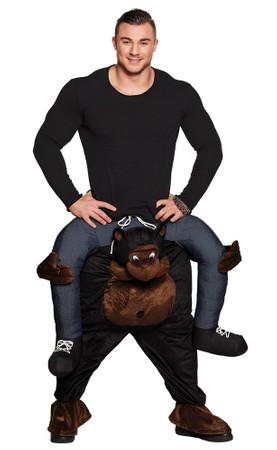 Huckepack-Kostüm Lustiger Affe – Bild 1