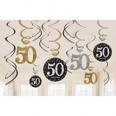 Swirldeko-Set Sparkling gold 50