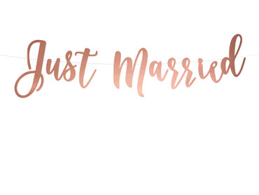 "Banner ""Just Married"" roségold – Bild 1"